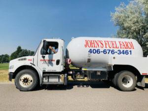 John's Fuel Farm truck and driver